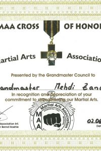 MAA-I Cross of Honour-Certificate-2012